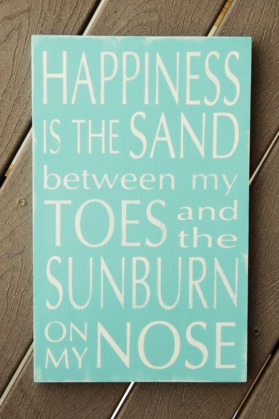 Summer Sign   Happiness is the Sand Between My Toes by WordWhipped