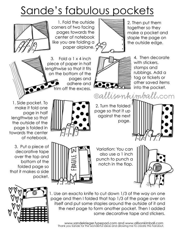 Free Akimball PDF: Sande's Fabulous Notebook Pockets