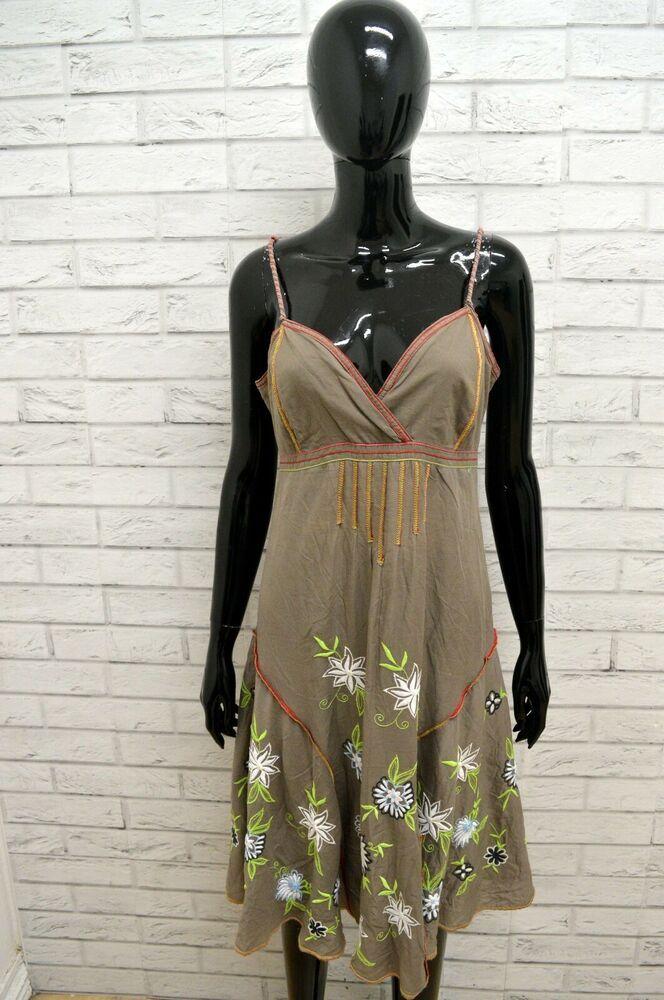 9e1fa878f38 Vestito DESIGUAL Donna Taglia Size S Dress Abito Tubino Woman Fiori ...
