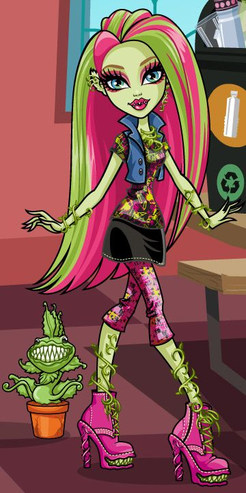 Venus mcflytrap . Daughter of the plant monster . Age 15 .