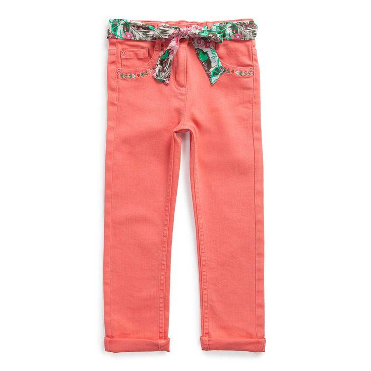 "Pantalon twill ""Paradis tropical"""