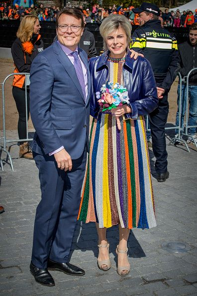 Prince Constantijn and Princess Laurentien of The Netherlands attend the King's 50th birthday during the Kingsday celebrations on April 27, 2017 in Tilburg, Netherlands.