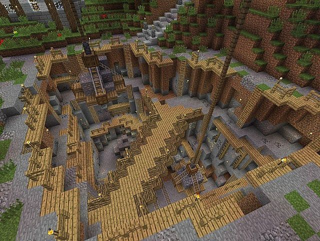 Minecraft Quarry Minecraft Minecraft Minecraft designs Design
