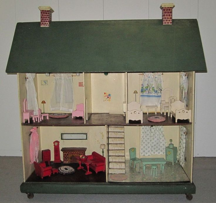373 Best Vintage Dollhouse Images On Pinterest Doll
