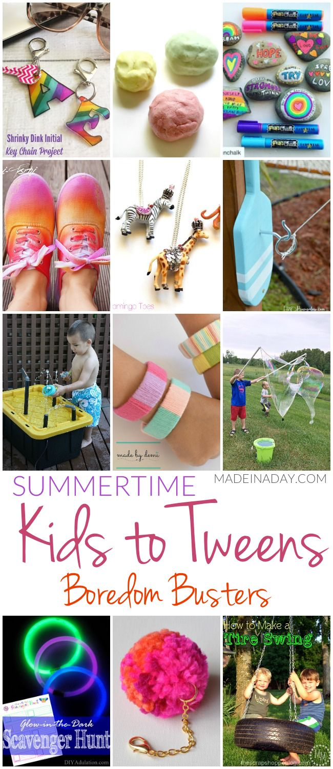 Summertime Kids to Tweens Boredom Busters | Made in a Day
