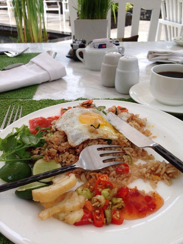 Nasi Goreng for breakfast in Bali!