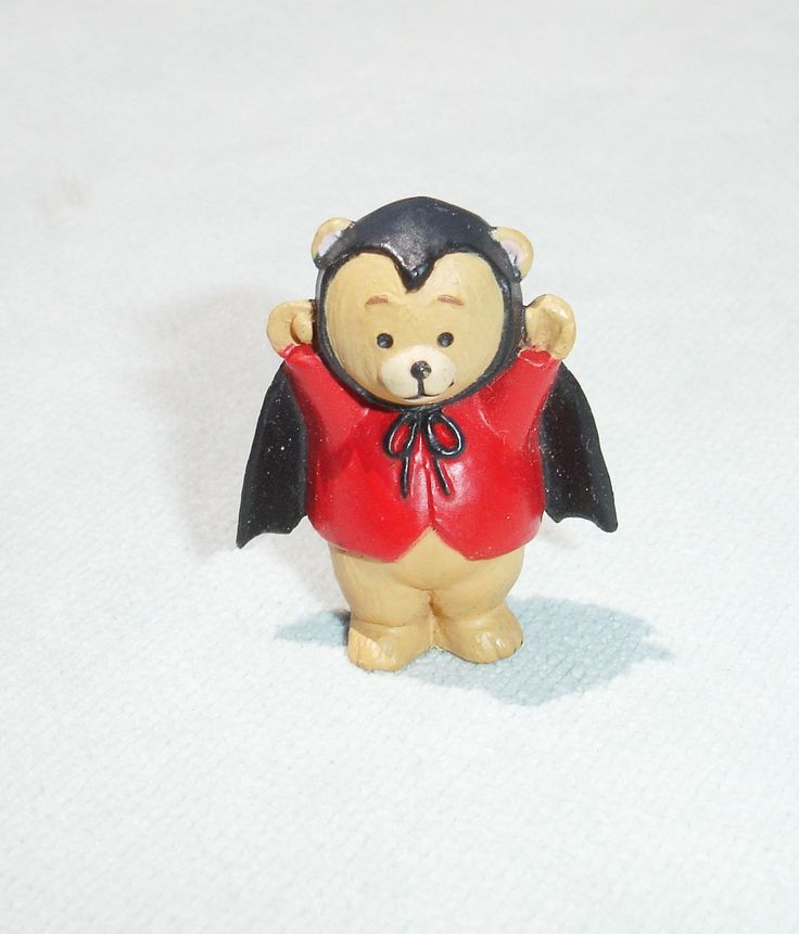 1993 Teddy Bear Vampire Merry Miniature - Hallmark Greeting Card Collectible