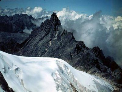 Puncak Jaya.  I love the idea of visiting a glacier in Indonesia.