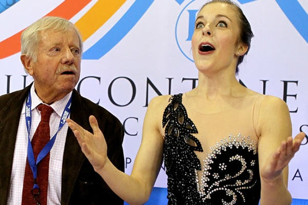 AshWag goes bonkers as her free skate scores are announced at Four Continents.