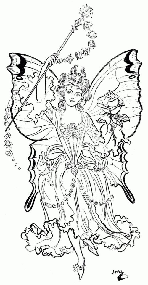 fantasy coloring pages fairy