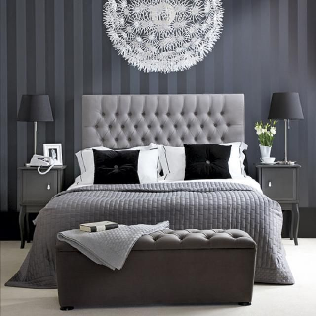 bedroom decorating ideas black and white. 9 Bedrooms Show Off the Softer  Prettier Side of Gray 149 best In Bedroom images on Pinterest bedroom