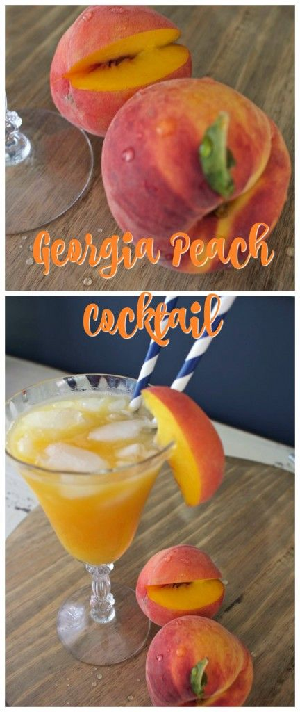Georgia Peach Cocktail . Made with real sweet peaches and peach vodka.- 2 Bees in a Pod