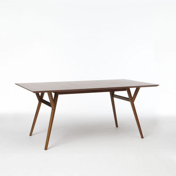 west elm mid century expanding dining table