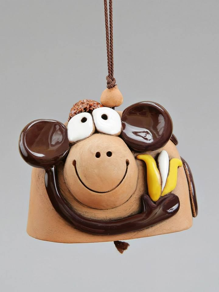Banana monkey bell. Who can say the are not adorable. I mean monkeys :)) They are so funny and they can make you laugh untill your belly hurts and then just a bit more.   Monkey Bell