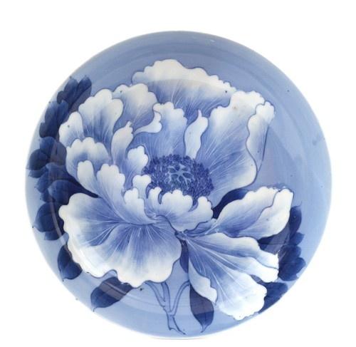 Japanese Blue White Imari Arita Nabeshima Style Porcelain Flower Plate | eBay