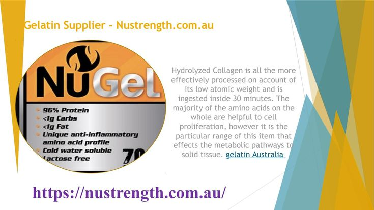 Gelatin Supplier - Nustrength.com.au  If you are seeking to buy either Collagen Hydrolysate or Collagen Hydrolysate Beef Gelatin, then NuStrength is the right place to make the purchase. Visit the website and buy the product easily. Collagen Hydrolysate Beef Gelatin Cold water soluble, https://nustrength.com.au/