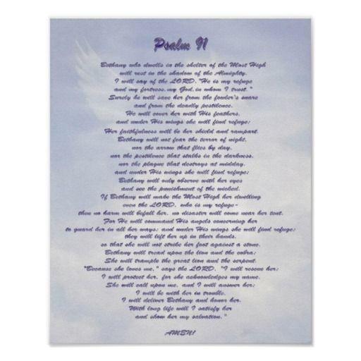 Bethany's refuge Psalm 91 NIV Posters