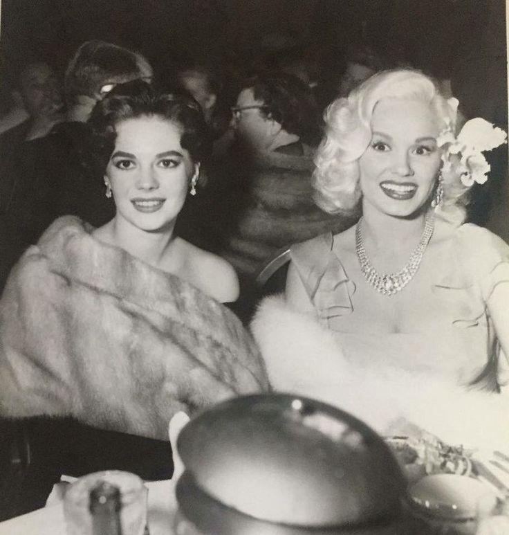Natalie with actress Mamie Van Doren #blackandwhite
