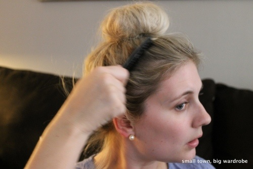 How to do a messy sock bun - a quick and easy hair tutorial!
