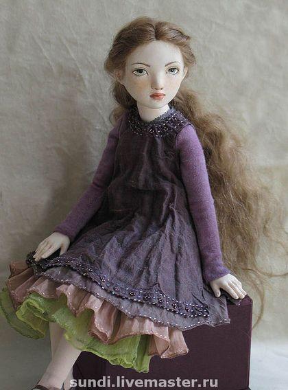 Мари - bjd,шарнирная кукла,кукла девочка,авторская кукла,фиолетовый,flumo