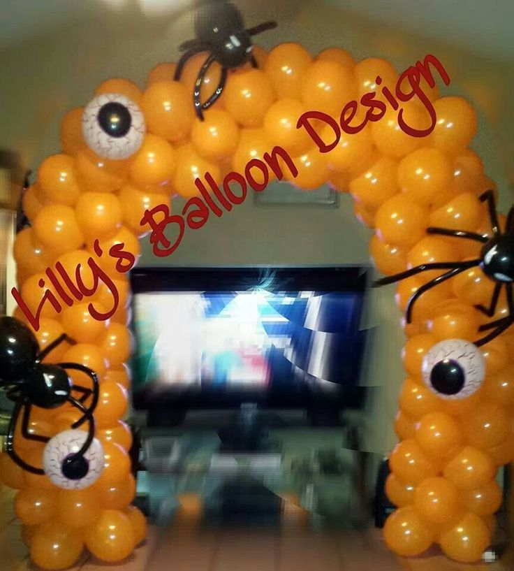 648 best images about balloon halloween figures for Balloon decoration for halloween
