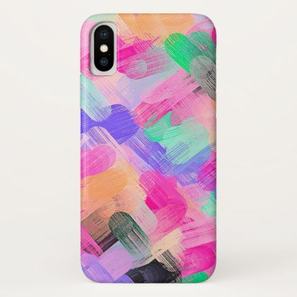 Pastel Colorful Abstract Background #2 iPhone X Case - girly gift gifts ideas cyo diy special unique