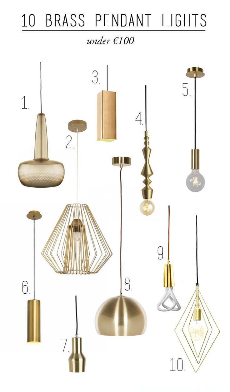 10 brass pendant lights under €100