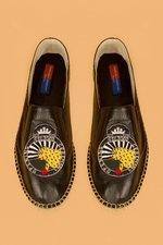 OC Leopard patch slip-on shoe