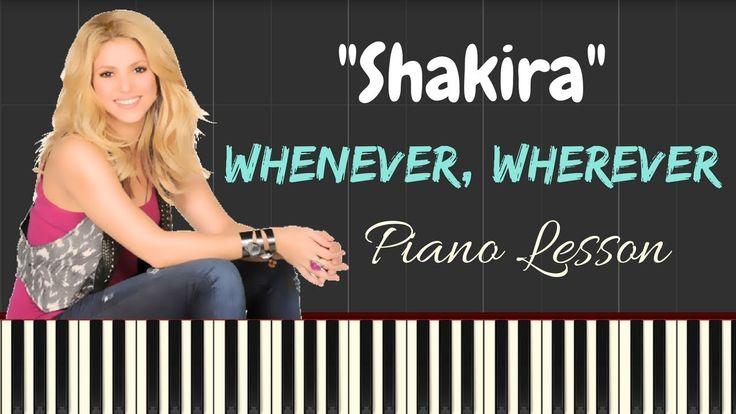 Shakira - Whenever, Wherever [LYRICS] - Easy Piano Tutorial | Synthesia ...
