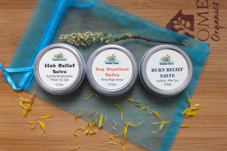 Herbal Salve Summer Care Kit: Bug Repellent, Itch Relief, Burn Relief Salve Set for Insect Repellent, Anti-Itch, Soothe Sunburn Natural Balm by HerbalChest on Etsy