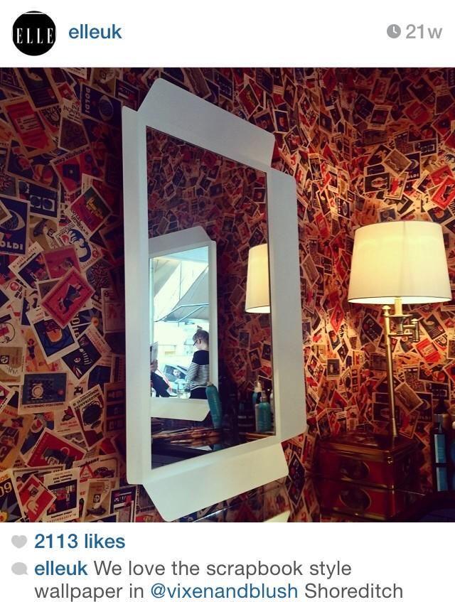 40 best ephemera wallpapers fabrics images on pinterest for Hair salon shoreditch