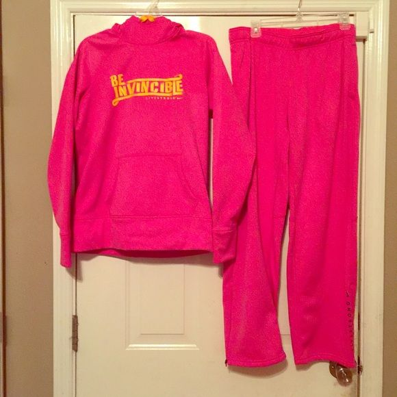 Women's Nike Jogging Suit Pink and Yellow Nike Jogging Suit Nike Other