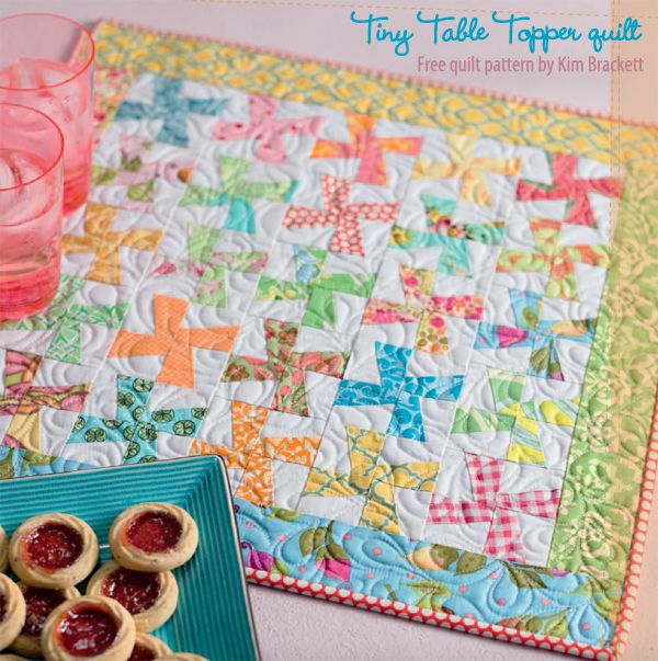 Tiny Table Topper free patchwork quilt pattern by Kim Brackett - sign in or register at ShopMartingale.com to download.