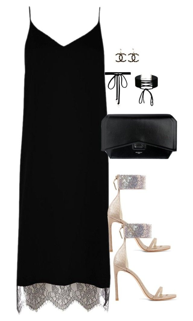 """""""Untitled #2867"""" by theaverageauburn on Polyvore featuring River Island, Stuart Weitzman, Givenchy, Joomi Lim, Miss Selfridge and Chanel"""
