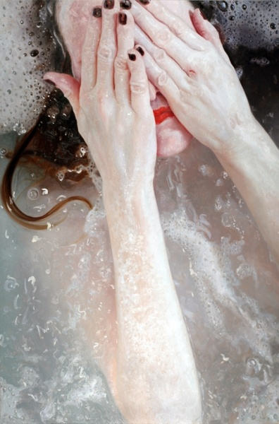 photoreal paintings by Alyssa Monks