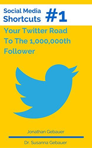 """Social Media Shortcut #1: Your Twitter Road To The 1,000,000th Follower (Social Media Shortcuts). Length: 22. The """"Social Media Shortcuts"""" series by siblings Jonathan Gebauer and Dr. How you can use the same strategies to mimic their success. How Twitter is used to form a rock solid backbone of any social media presence. Your Twitter Road To The 1,000,000th Follower. is your introduction to growing a professional social media presence, one Follower/Fan at a time."""