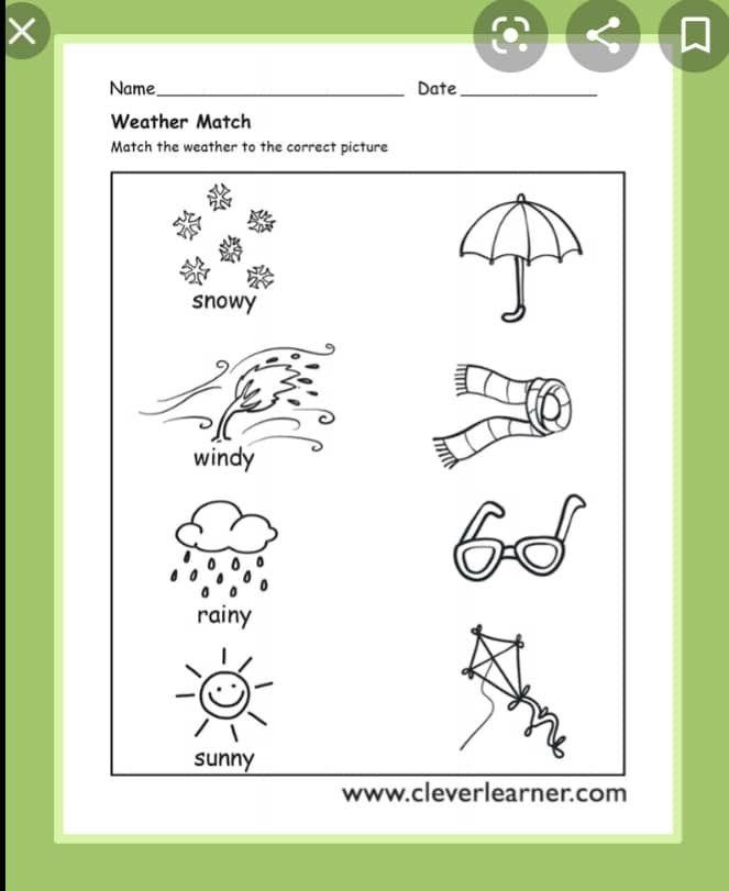 Pin De Andrea Rojas En English Grammar Worksheets Ingles Para Preescolar Material Escolar En Ingles El Clima En Ingles