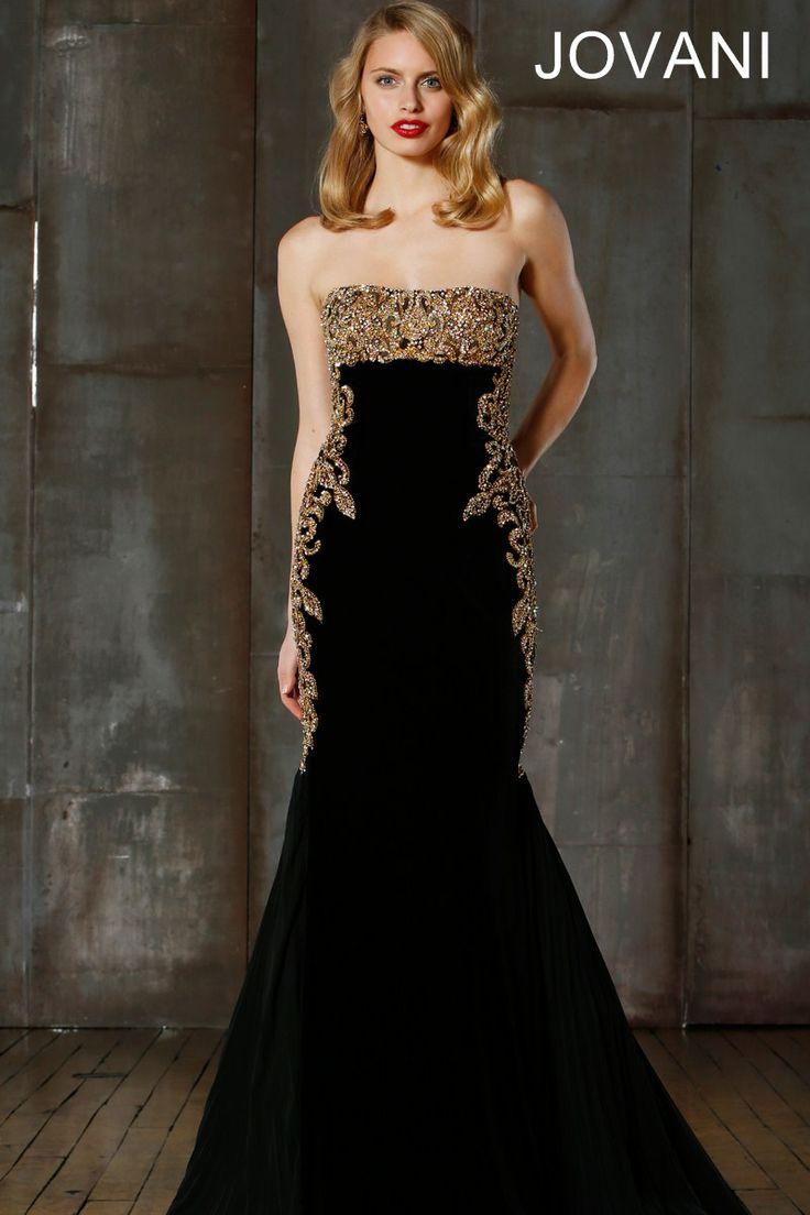 Jovani dress black and gold