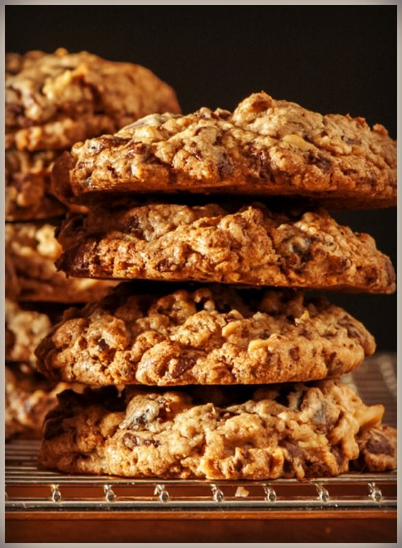 For more than 25 years, whenever I bake Chock Full of Everything Chocolate Chip Cookies, cookie connoisseurs (my neighbor's children) waft into my kitchen, ravening for these textured, wholesome treats, chock full of dark chocolate, chopped walnuts, crunchy granola, succulent dates, and yummy shredded coconut.