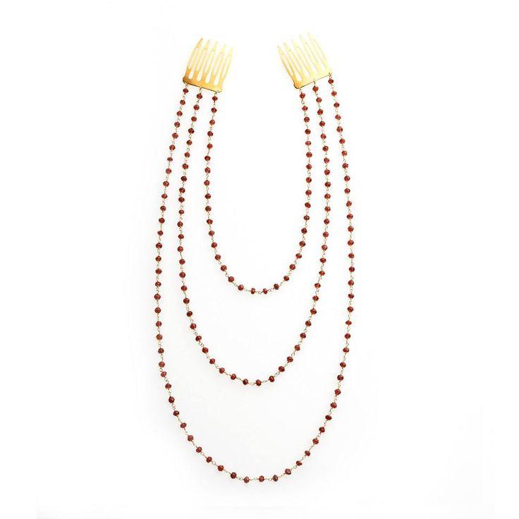 garnet-hair jewelry