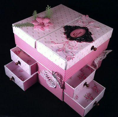 wilma: Workshop doosje maken. Gemaakt door Wilma