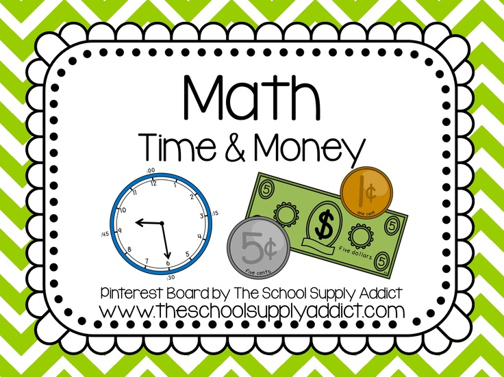 Time & Money Pin Board by The School Supply Addict