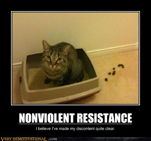 demotivational posters - NONVIOLENT RESISTANCE