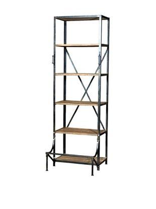 CDI Industrial Single Hutch Bookcase, Natural