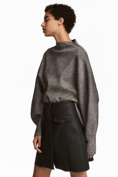 Pull ample - Noir/scintillant - FEMME | H&M FR