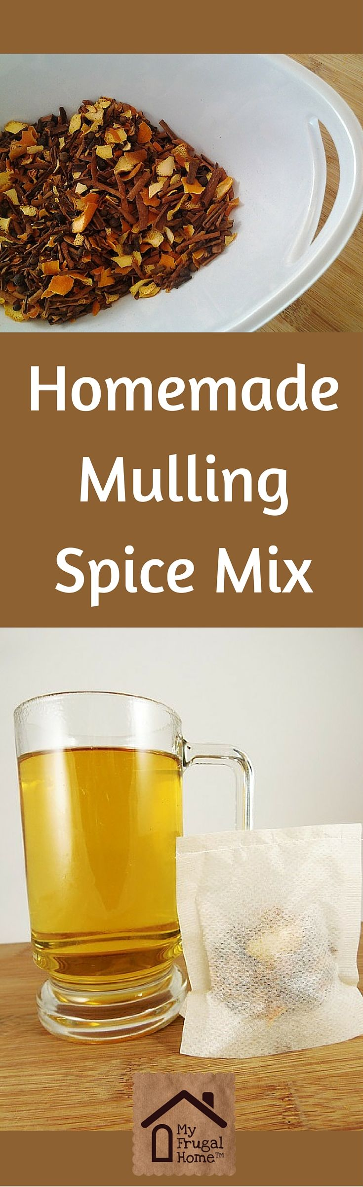 Homemade Mulling Spice Mix Recipe - packaged in single-use bags. Perfect for gifting.