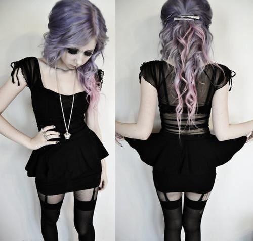 Love her hair! Pastel Goth: