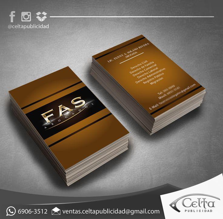 Diseño personalizado - Tarjeta de presentación para Firma de Abogados.