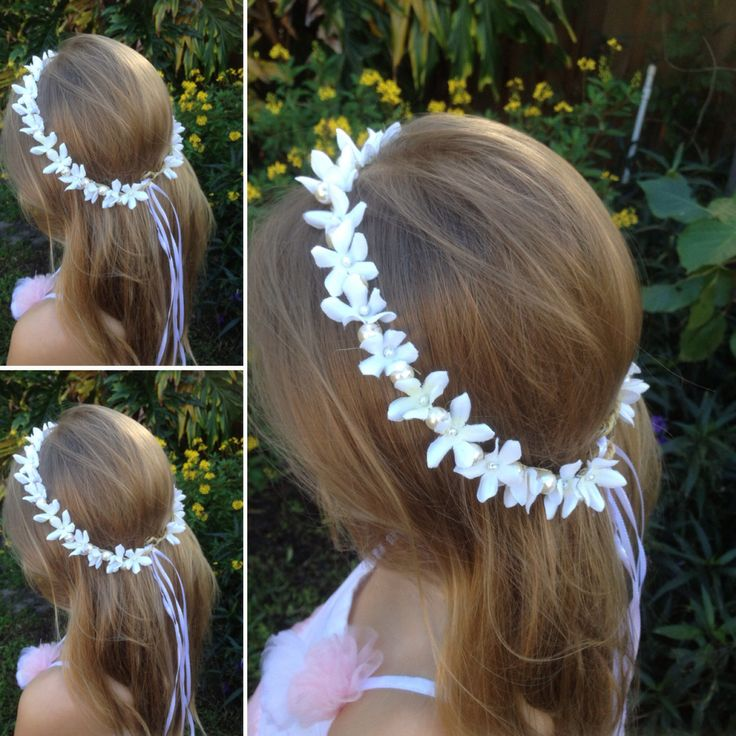 Bridal flower crown,White halo,floral crown,bridal hair piece,Beach Wedding Hair Vine,Stephanotis wreath,Flower wreath,Bridal Hair vine,etsy by BellasBloomStudio on Etsy