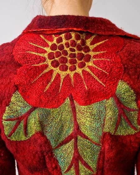 """Starflower"" jacket (back), 2008. 